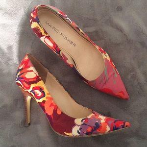 Marc Fisher Floral Stiletto Heels
